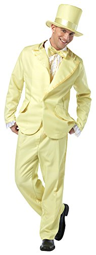 Funky Tuxedo Adult Men Costumes (one size - 70s Funky Tuxedo Pastel Yellow Mens Adult Costume)
