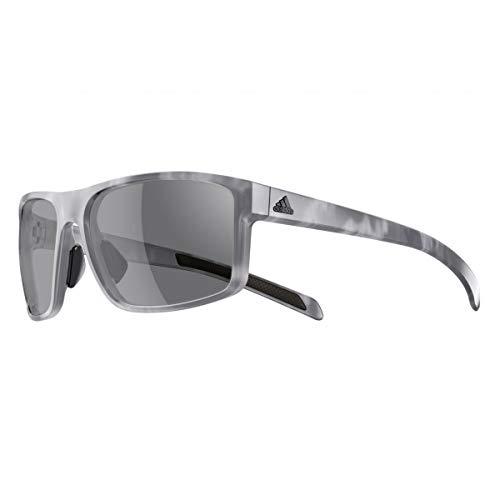 adidas Unisex-Adult Whipstart a423 6065 Non-Polarized Iridium Rectangular Sunglasses, Grey Havana, 61 mm (Sunglasses Men Adidas)