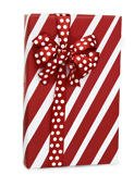Red & White PEPPERMINT STRIPE Christmas Gift Wrap Wrapping Paper - 16ft Roll (Christmas Wrap Stripe Gift)
