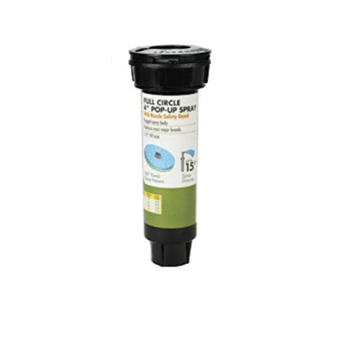 "Yardworks Full Circle 4"" Pop-Up Spray with Nozzle Safety Guard"