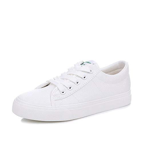 Hasag Zapatos de Lona Zapatos Deportivos Zapatos Planos Blancos Ocasionales del Estudiante white