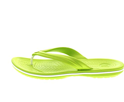 Crocs Green volt Vert Adulte Flip Mixte white Crocband Tongs rZxaw6Brq