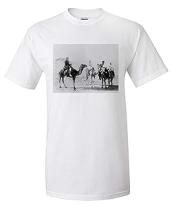 Arab Camel Riders Photograph (White T-Shirt Small)