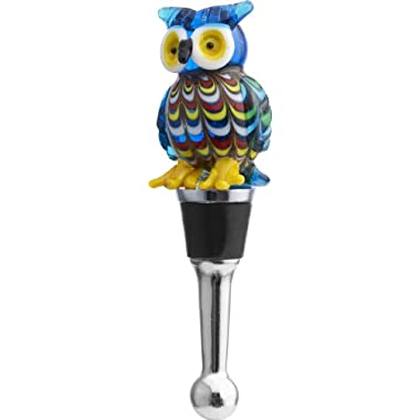 LSArts Wine Bottle Stopper, Venetian Owl