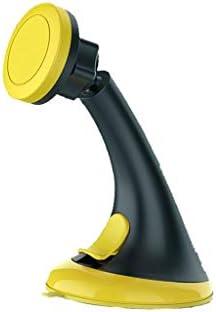 車のブラケット、車の電話ホルダー、サクションカップ、あらゆる種類の携帯電話用の磁気携帯電話ナビゲーションブラケット (色 : Black yellow)