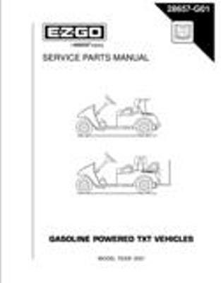 EZGO 28657G01 2001 Service Parts Manual for Gas TXT Golf Cars by E-Z-GO