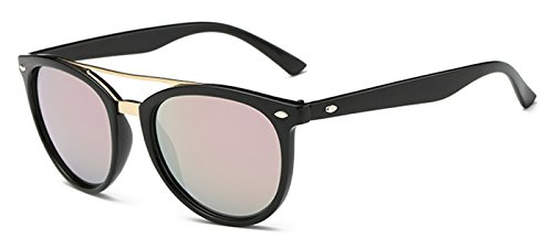 Coolzdt The New Style Color Mirror European and American Fashion Women Sunglasses Driving Mirror (Pink - Under Sunglasses Amour