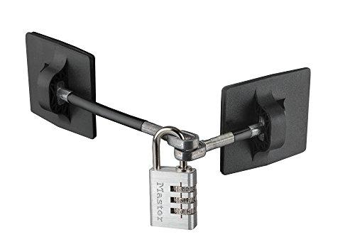 Refrigerator Door Lock with Combination Padlock - Black (Silver Combination Lock)