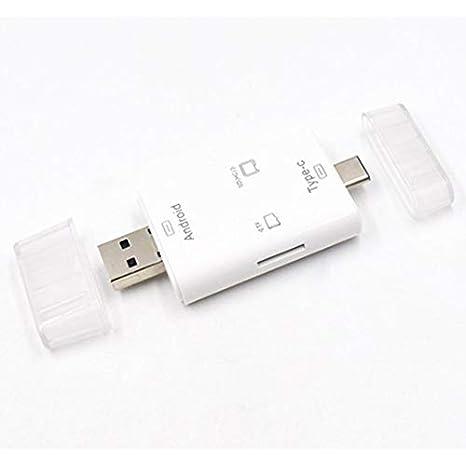 RoadRomao Lector de Tarjetas multifunción 4 en 1 USB 2.0 ...