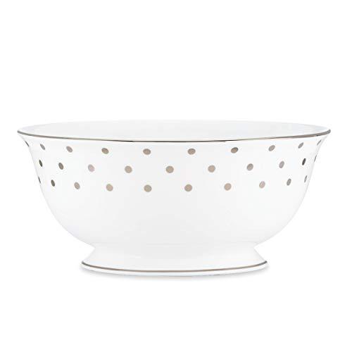kate spade New York 815502 Larabee Rd Platinum Serving Bowl, White
