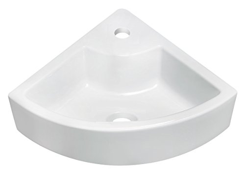 American Imaginations Unique Shape Vessel, Comes with an Enamel Glaze Finish in White Color and Designed for a Single Hole Faucet by American Imaginations