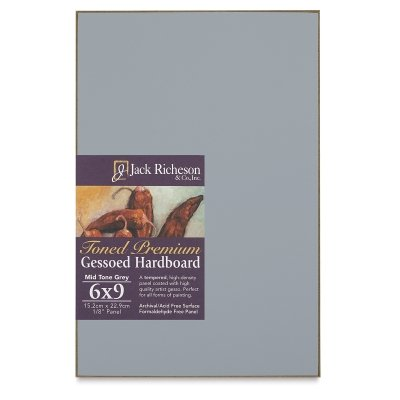 Jack Richeson Gessoed Hardboard Panels, 9 x 12 inches, Assorted Colors, Set of 3 by Jack Richeson
