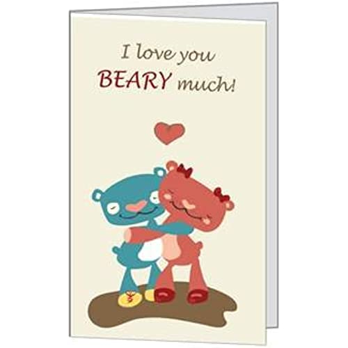 Valentines Day Love Bear Child Spouse Husband Son Daughter Niece Wife Greeting Card 5x7 by QuickieCards Sales