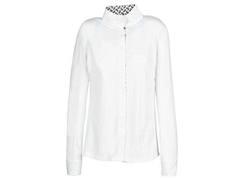 Dublin Ladies L/S Coolmax Comp Shirt - White/Navy Paisley - Large