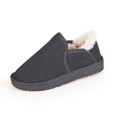 Snow Winter UK6 Shoes EU39 CN39 Flat For Khaki Casual Heel US8 Boots Boots Round Beige Gray Suede Black Blushing Dress Toe Pink Women's RTRY Iqw5txBpw