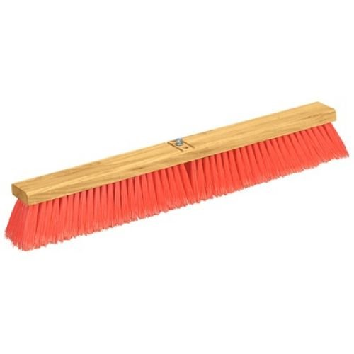 Carlisle 3610221824 Flo-Pac Juno Style Hardwood Block Sweep, Polypropylene Bristles, 18'' Length, Orange (Pack of 12) by Carlisle (Image #1)
