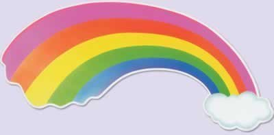 Rainbow Cutout Party Accessory (1 count)
