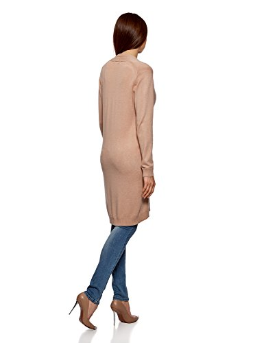 Cardigan Long sans Collection Femme Beige Fermeture oodji 3500n wPqSg7g