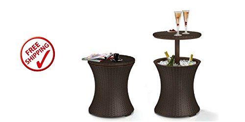 Cool Bar Table Outdoor Patio Furniture Rattan Style price