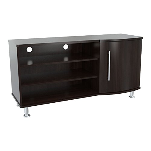 Inval MTV-8619 Curved Front Flat-Screen TV Stand, 50-Inch, Espresso-Wengue Curved Front Tv Stand