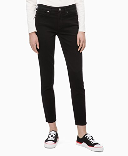 - Calvin Klein Women's Mid Rise Skinny Fit Jeans, eternal black, 25W X 30L