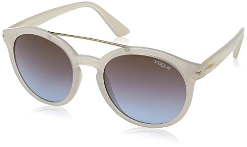 VOGUE Women's Injected Woman Round Sunglasses, Opal Ice, 53 mm