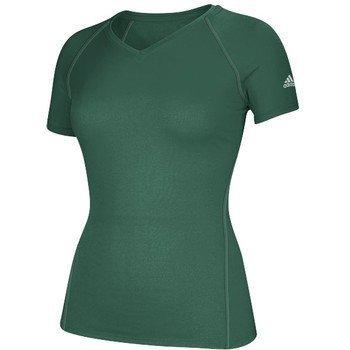 Climalite Chemise Grn manches à logo courtes femmes Dk adidas pour zHzv0xpnr