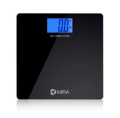 MIRA Bluetooth Bathroom Scale with SmartPhone and Tablet tracking (works with iPhone and iPad)