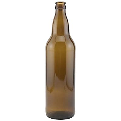 Brewcraft HOZQ8-844 Bomber, 22 oz., Brown (Pack of 12)