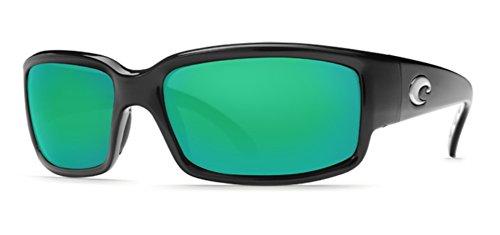 Costa Caballito Sunglasses Black Green Mirror