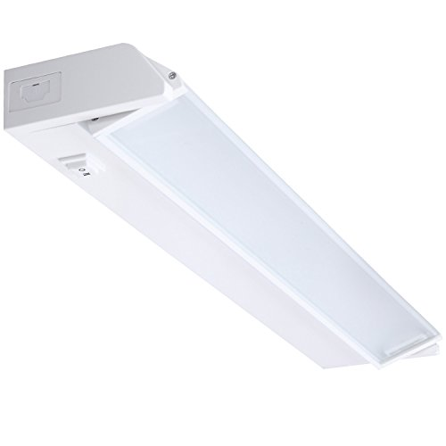 GetInLight Swivel and Dimmable LED Under Cabinet Light with ETL Listed, Warm White(2700K), White Finished, 18-inch, IN-0207-2
