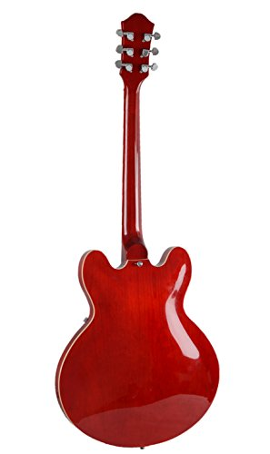 Full Size Hollow Body Electric Guitar With Cable And