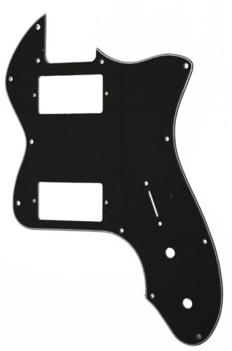 (Telecaster thinline 72 RI re-issue pickguard 3ply black for standard humbuckers)
