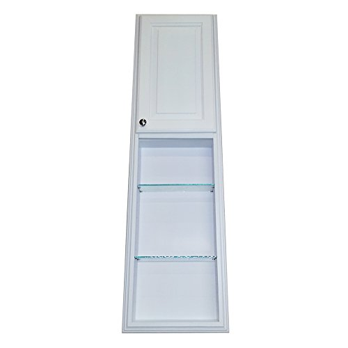 WG Wood Products Recessed Tyler Pantry Storage Cabinet with 30'' Shelf & 3.5'' Deep, 54'', White Enamel by WG WOOD GROUP