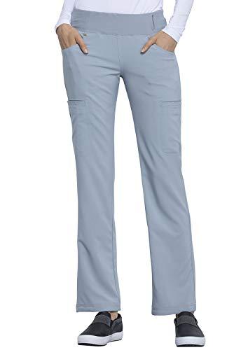 Cherokee iflex CK002 Women's Mid Rise Straight Leg Pull-on Pant, Grey, X-Large ()