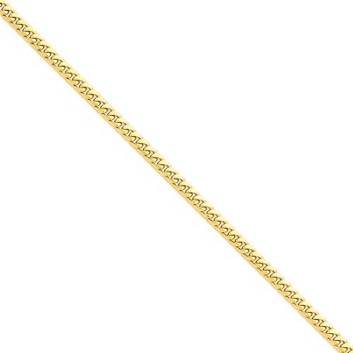 Or 14carats 5mm bombé Chaîne gourmette-Bracelet Femme-Homard Griffe-Longueur Options: 1820