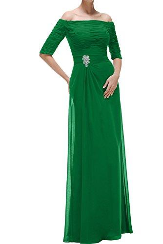 Aermeln U Lang Mit Ausschnitt Ivydressing Damen Festkleider Chiffon Grün Abendkleider Promkleid Ptqw46nH