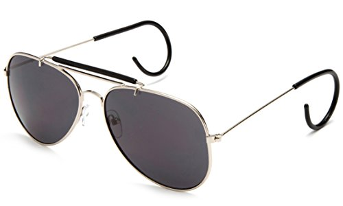 Newbee Fashion - Timeless Classic Aviator Sunglasses with Brow Bar and Cable Wired - Temple Cable Eyewear