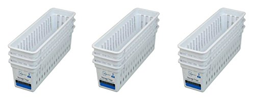 Slim Plastic kitchen Storage Organization Trays Baskets in White Set of 9 by Mainstay