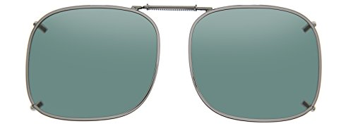 Cocoons Polarized Clip-on Square 1 L208G Sunglasses, Gunmetal, 54 - Sunglasses Cocoons Clip-on