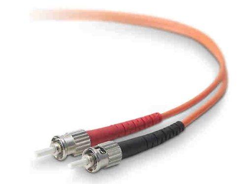 (Belkin Components A2F20200-10M Duplex Fiber Optic Cable St/st)