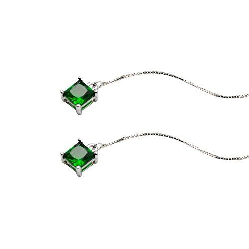 Yanvan Drop Dangle Chain Earrings, 2019 Pearl Drop Silver Long Chain Tassel Dangle Earrings Women's Fashion Jewelry ()