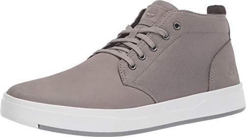 Timberland Mens Davis Square Fabric/Leather Chukka Medium Grey Nuuck Boot - 11.5