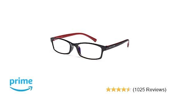 04429c02a0f Amazon.com   PROSPEK - Premium Computer Glasses - Professional - Blue Light  and Glare Blocking (+0.00 (No Magnification)