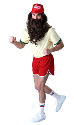 COSKING Forrest Gump Costume for Men, Deluxe Adult Halloween Cosplay Outfit Role-Play Clothing (Tag Size-L) ()