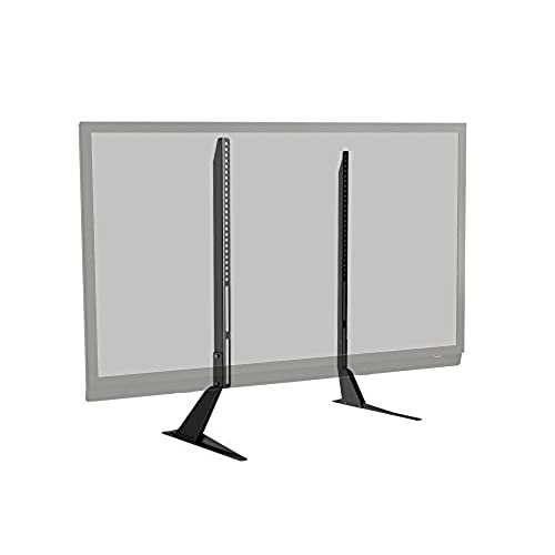 atlantic universal table top tv standbase mount for most flat screen tv black - Samsung Tv Base Stands