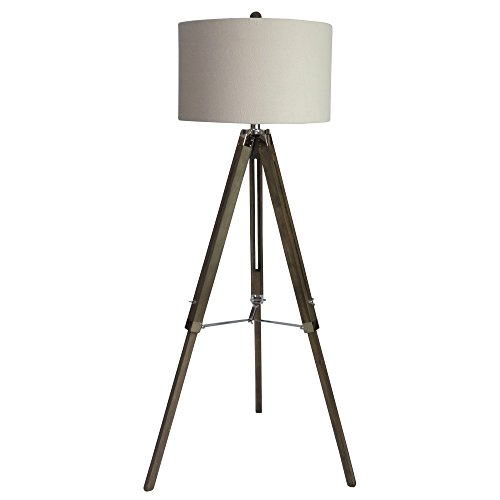 Wood Plus Lamps Lamp Floor (Martin Richard W-2026SIL Floor Lamp, 60, Weathered Grey/Polished Nickel)