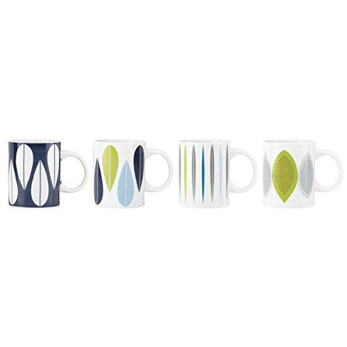 Dansk 856475 Burbs Blue 4-Piece Mug Set, Multicolor