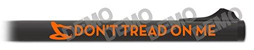 Shotgun Barrel Decal - Don't Tread on Me (Hunter Orange)