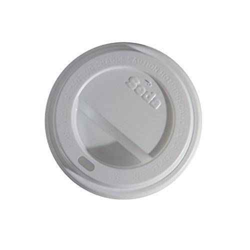 Seda North America CC0250002 Sip Through Lid, 12/16/20 oz, Black (10 sleeves of 100)